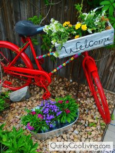 New uses for old bicycles - Valerie's clipboard on Hometalk, the largest knowledge hub for home & garden on the web