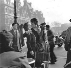 i remember having a poster of this 1940s Robert Doisneau photograph on my wall as a teen. I'd forgotten the image. And the idealism. It is real though, isn't it?