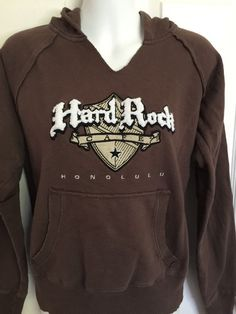 Hard Rock Cafe Honolulu Hoodie Medium M Sweatshirt Hawaii | eBay