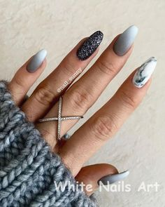 dfba1ec839c1 20 Best White And Silver Nails images