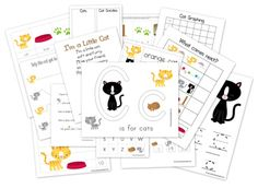 Cats preschool pack printabls