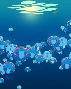 """𝚁𝚘𝚗𝚊𝚕𝚍 𝙺𝚞𝚊𝚗𝚐 on Instagram: """"This one is probably a childhood movie for a lot of people. Jellyfish are my fav animals so of course I gotta do the jelly scene. 😆 Now Nausicaa or Whisper of Heart next? 🤔 🐟 🎶Music: Ponyo theme (music box ver. by R3 Music Box) 🐟Live wallpaper will be available at my patreon in March! #animeart #studioghibli #hayaomiyazaki #ponyo #ghibli"""" Live Wallpaper Iphone, Live Wallpapers, Animes Wallpapers, Moving Wallpapers, Hayao Miyazaki, Aesthetic Art, Aesthetic Anime, Disney Aesthetic, Aesthetic Videos"""