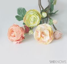 DIY Paper Ranunculus flowers!