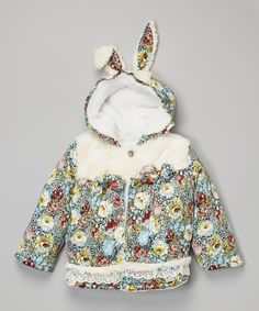 Look at this White Bunny Ear Jacket - Infant, Toddler & Girls on #zulily today!