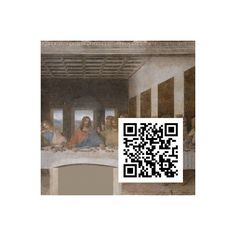 Das Abendmahl, Leonardo da Vinci, QR-Code, QR-Kunstwerk