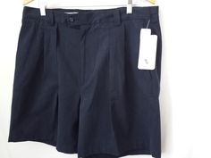 John W. Nordstrom Shorts 38W Navy Blue Pleated New with Tags #Nordstrom #CasualShorts #navy blue shorts #$32.99