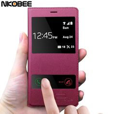 NKOBEE Luxury Original PU Leather Flip Case For Huawei P9 Lite cover Case Funda for huawei P8 P9 lite mobile phone accessories