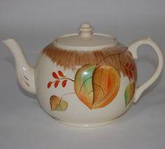 Beautiful Vintage Hand painted Cream English Tea Pot