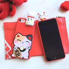 Wholesale For Apple iPhone 7 Case Silicone 3D Cartoon Qute Lucky Cat Soft Case Cover For Coque iPhone 7 Plus Cute Phone Cases