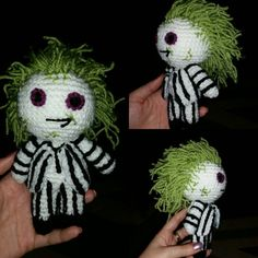 crochet doll Beetlejuice betelgeuse 6 scifi geek retro gift vegan ...