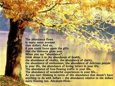 Abundance ~ Abraham Hicks