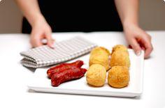 Croquetas de patata rellenas de chorizo