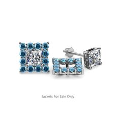 These Pleasant Jackets have 24 Round Blue Topaz beautifully set using Prong Setting which decorates your own favourite pair of Stud Earrings.To wear,simply slip your Princess Solitaire Stud through the Jackets. Diamond Earring Jackets, Diamond Earing, Diamond Studs, Princess Cut Diamond Earrings, Princess Cut Diamonds, Women's Earrings, Jacket Earrings, London Blue Topaz, Pink Tourmaline