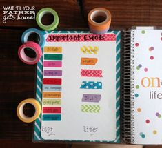 Organize your personal planner with washi tape this New Year via www.waittilyourfathergetshome.com #planner #washitape #lifeplanner