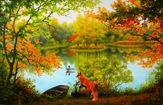 picmix.com autumn autome gifs | ... www.tumblr18.com/t18/2014/06/Delectable-autumn-lake.gif[/img][/url
