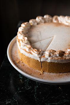 Easy No Bake Oakhurst Eggnog Cheesecake