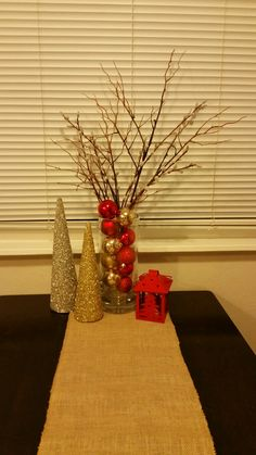 table decor for Christmas