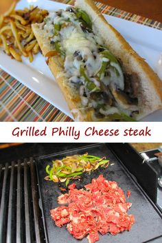 Grilled Philly Cheese Steak - Life's A Tomato - Grillen Styla Philly Cheese Steaks, Philly Cheese Steak Seasoning, Steak And Cheese Sub, Steak Sandwich Recipes, Steak Recipes, Philly Steak Sandwich, Hibachi Recipes, Steak Sandwiches, Smoker Recipes