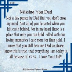 Dad I miss u I love u and I need u Rip Daddy, Daddy I Miss You, Miss You Dad Quotes, Daddy Quotes, Love You Dad, Daughter Quotes, Remembering Dad Quotes, Missing Dad Quotes, Family Quotes