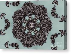 0164 Canvas Print featuring the digital art 0164 by Aileen Griffin
