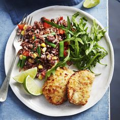A healthier WW recipe for Southern-style chicken with red rice and black bean salad ready in just Get the SmartPoints plus browse our other delicious recipes today! Ww Recipes, Delicious Recipes, Cooking Recipes, Healthy Recipes, Canned Black Beans, Green Beans, Lemon Pepper Seasoning, Bean Salad, Recipe Today