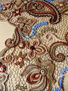 Irish crochet lace Russian artist