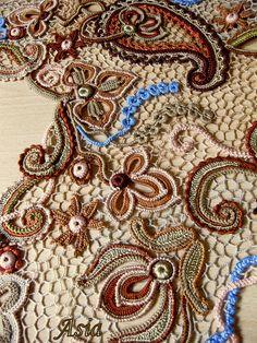 Irish crochet lace Russian artist