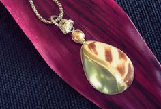 Natural South Sea  Cockel and Pearl Pierced Pendant by balijewels, $55.00