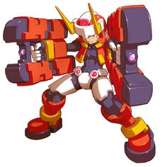 View an image titled 'Atlas - Biometal Model F Art' in our Mega Man ZX Advent art gallery featuring official character designs, concept art, and promo pictures. Game Character Design, Character Poses, Character Design References, Character Concept, Character Art, Concept Art, Superhero Design, Robot Design, Mega Man