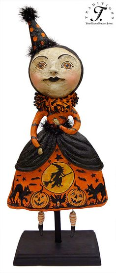 debra schoch folk art collectibles this is the sort of vintage look for halloween collectibles i like - Halloween Vintage Decorations
