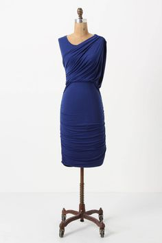 Ruched & Draped Column Dress / Anthropologie