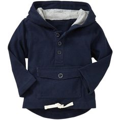 Gap Drawstring Popover Hoodie ($27) ❤ liked on Polyvore