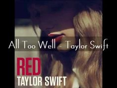 ▶ All Too Well - Taylor Swift (Full Audio with lyrics) - YouTube
