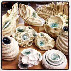 Judi Tavill Ceramics New with glass incorporation. Love this work