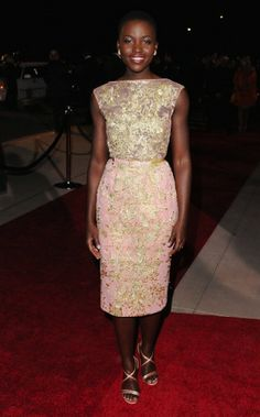 Lupita Nyong'o in Elie Saab couture at the 25th annual Palm Springs International Film Festival awards gala