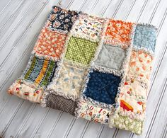 Baby Rag Quilt Baby Playmat Baby Quilt Playdate Colorful