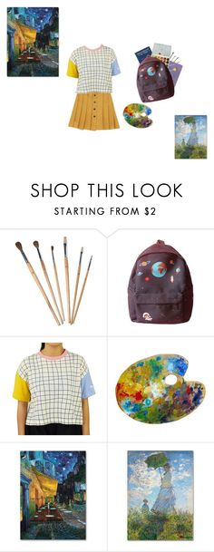 """painter"" by pastel-dream-hime ❤ liked on Polyvore featuring Trademark Fine Art"