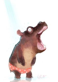 Wiebke Rauers Illustration — that moment in the ice cold shower by the way: my. Art And Illustration, Animal Sketches, Animal Drawings, Creature Design, Whimsical Art, Cute Cartoon, Cute Art, Illustrators, Design Art