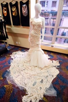 Knitted Wedding Dress at Vogue Knitting LIVE New York 2012