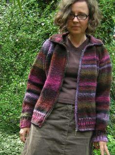 beautiful cardi #knitting #noro