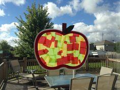 Apple Suncatcher Craft - Kindergarten Craft - Apple Craft - Kids Craft - Fall Craft