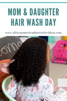 Simple Natural Hair Wash Day Routine As A Busy Mom Curly Hair Styles, Natural Hair Styles, African American Hairstyles, Natural Hair Growth, Mom Daughter, Hair Videos, Your Hair, Routine, Simple