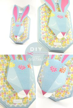 DIY rabbit trophy - cute bunny head wall decoration ^^
