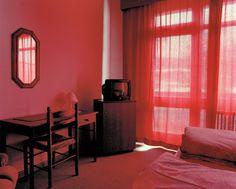 mpdrolet: From Motel Catherine Leutenegger (via mademoiselle-lolita) Motel Room, Red Aesthetic, Rainbow Aesthetic, Neon Lighting, Red And Pink, Lights, Interior Design, Sofa, Home Decor