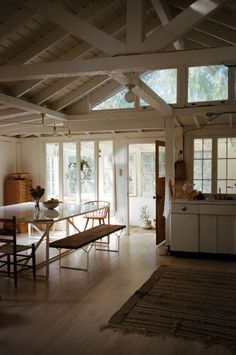 open barn frame in white Style At Home, Interior Architecture, Interior And Exterior, Home Fashion, House Goals, Humble Abode, Lofts, My Dream Home, Beautiful Homes