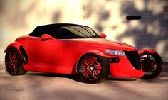 Asanti Wheels, the leader in custom luxury wheels.  Red Plymouth Prowler with black and red AF-162