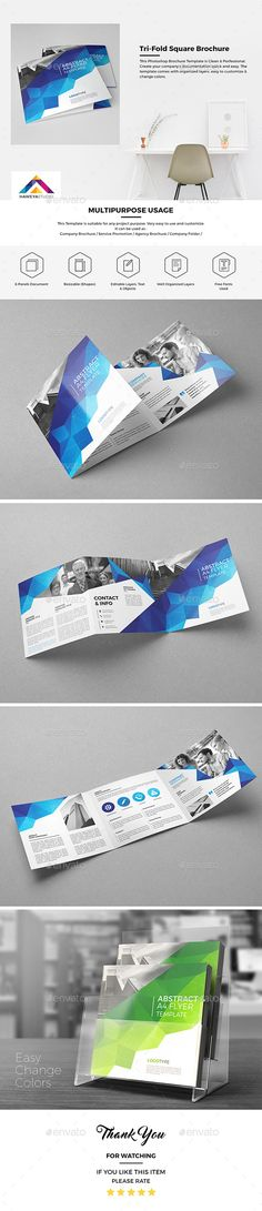 Haweya Tri-Fold Square Brochure Template PSD. Download here: http://graphicriver.net/item/haweya-trifold-square-brochure-03/15651895?ref=ksioks