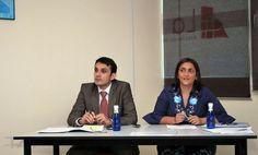 Los ponentes: Emilio Ríos y Raquel Palomares (Grupo TAT).