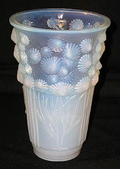 Sabino of France 1930's Algues Marines Frosted Opalescent-ish Deco Vase  $795 on ebay