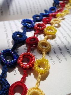 Crochet Circles Necklace by Spasojevich on Etsy, $30.00